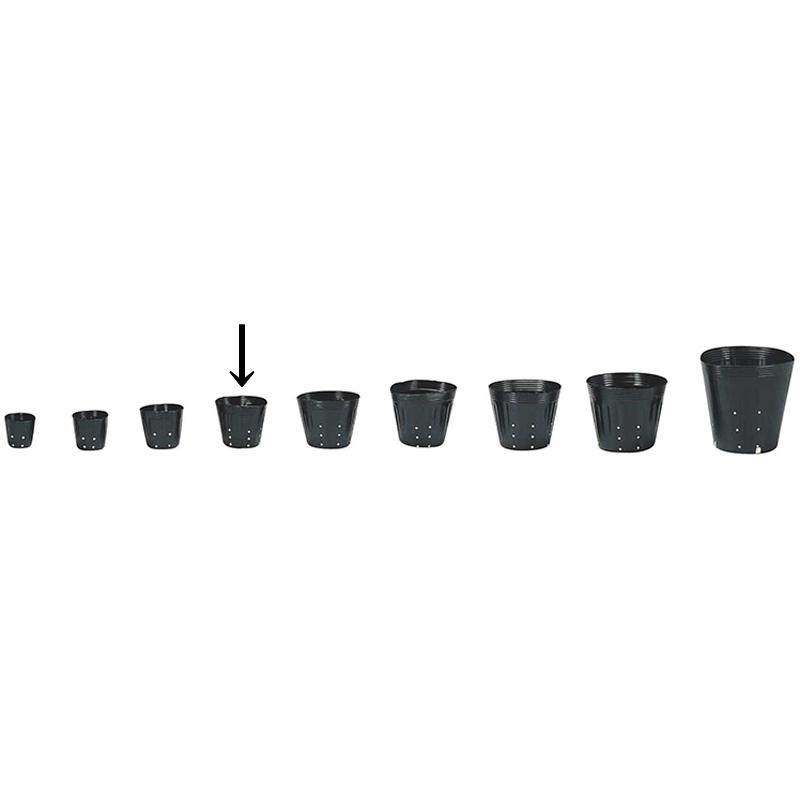 【10000個】 12cm 黒 TO ポリポット 側面穴付 ( UBタイプ ) ポリポット 東海化成 タ種 【代引不可】