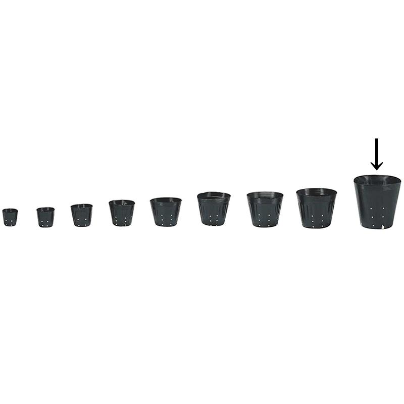 【2000個】 21cm 黒 TO ポリポット側面穴付 ( UBタイプ ) ポリポット 東海化成 タ種 【代引不可】