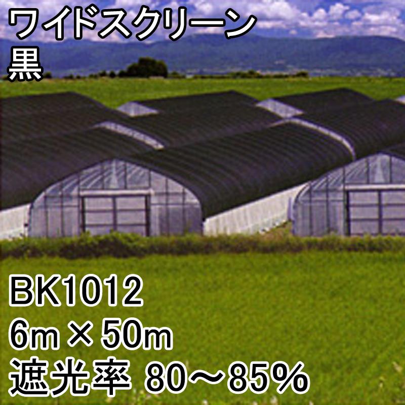 【個人宅配送不可】 6m × 50m 黒 遮光率80~85% ワイドスクリーン 遮光ネット BK1012 寒冷紗 日本ワイドクロス タ種 【代引不可】