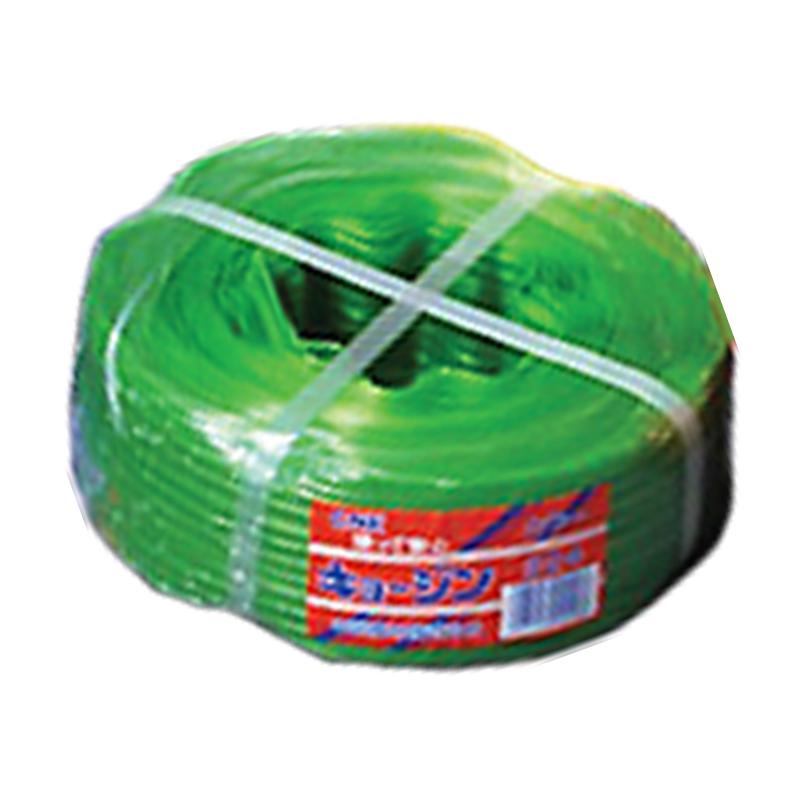 【10個】 キョ―ジンバンド No.324 兼用 緑 500m × 15mm 4本 × 3芯 ビニールハウス 用 バンド タ種 【代引不可】