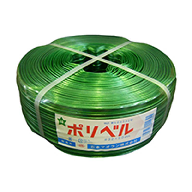 【10個】 ポリベル#32 緑 500m × 14mm ビニールハウス 用 バンド タ種 【代引不可】
