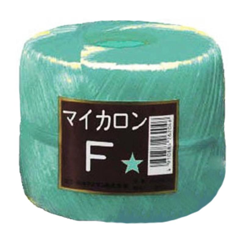 【40個】 マイカロンF 玉巻 緑 500m × pp ビニール 荷物 の 荷造り 梱包 紐 ロープ タ種 【代引不可】