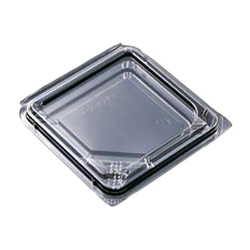 【個人宅配送不可】【1800枚】 大葉10容器 110 × 112 × 高 13 mm OPS 【03830】 大葉10枚用 食品容器 デンカポリマー Sモ【代引不可】