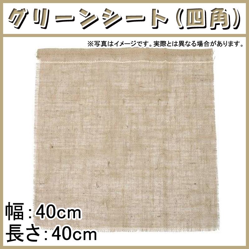 【1800枚】 グリーンシート 四角 40 40cm × 40cm 早S【代引不可】