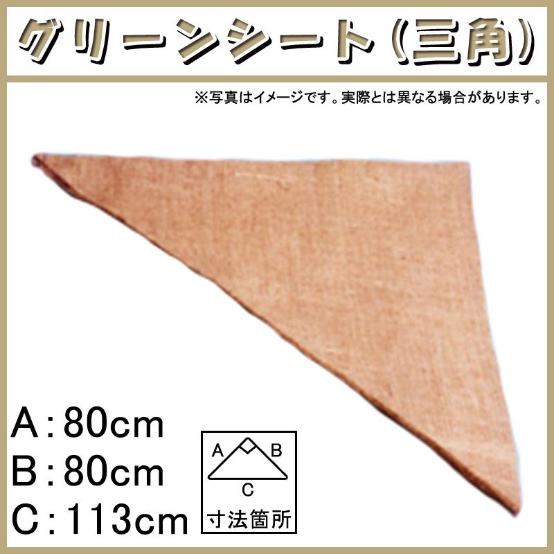 【900枚】 グリーンシート 三角 80 80cm × 80cm × 113cm 早S【代引不可】