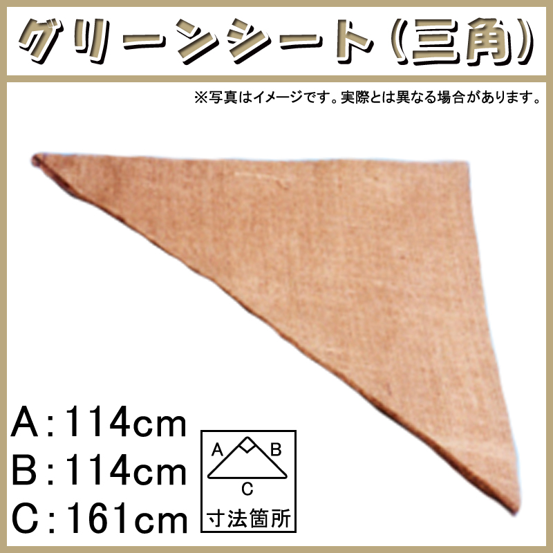 【200枚】 グリーンシート 三角 114 114cm × 114cm × 161cm 早S【代引不可】