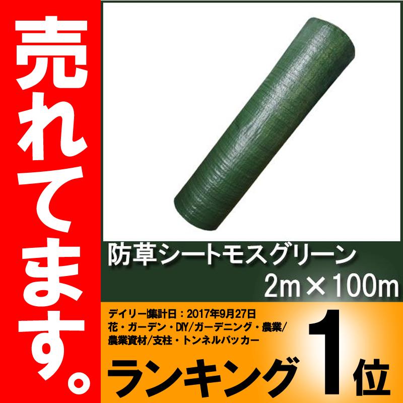 【3年耐久】防草シート モスグリーン 幅2m×100m 【厚手・草よけシート】 シN直送