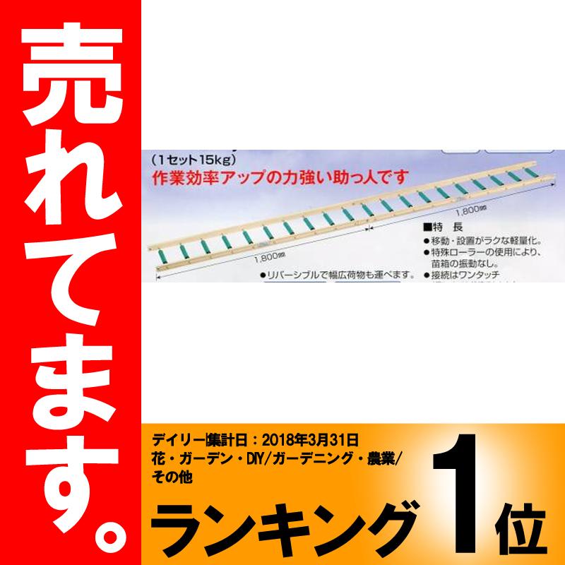 ナエローラー 3.6m 育苗箱運搬用ローラーコンベア ホクエツ オK【代引不可】