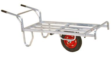 【離島配送不可】 ハラックス コン助 アルミ製 平形一輪車 CN-65D ストッパー伸縮タイプ 防J【代引不可】