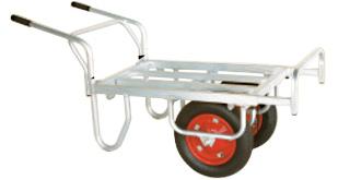 【個人宅配送不可】【離島配送不可】 ハラックス コン助 アルミ製 平形二輪車 CN-45DW 一輪車に付け替え可能タイプ 防J【送料無料】【代引不可】