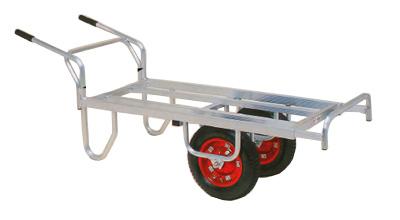 【離島配送不可】 ハラックス コン助 アルミ製 平形二輪車 CN-65DW 一輪車に付け替え可能タイプ 防J【代引不可】