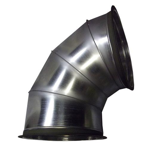 【大型配送】乾燥機用 直径 排塵90度エルボ 静岡製機用 直径 480×H770×W660mm フランジ付 HワH