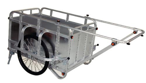 【個人宅配送不可】ハラックス 折り畳み式 リヤカー コンパック HC-3500N 耐荷重350kg 防J【送料無料】【代引不可】