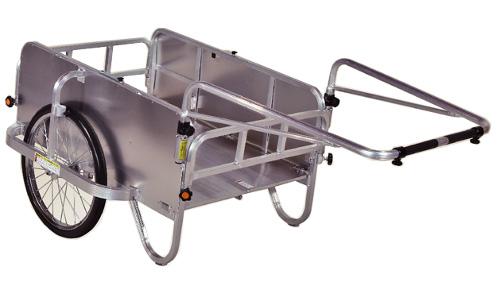 ハラックス 折り畳み式 リヤカー コンパック HC-906NA 側面アルミパネル付 ノーパンク 防J【代引不可】