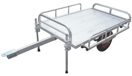 ハラックス アルミ製 トレーラー ミニトレ MT-1208 乗用草刈機用 防J 個人宅配送不可 代引不可