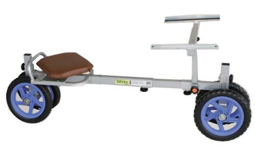 ハラックス アルミ製 いちご収穫用 幅狭台車 ラクエモン RS-800K イス回転タイプ 防J 個人宅配送不可 代引不可