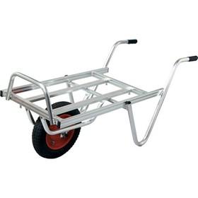 離島配送不可 大型配送 アルミ 平型一輪車 ネコ - コンテナ2個載せ用 シN直送