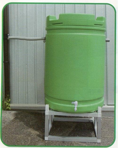 【個人宅配送不可】 【個人宅配送不可】 雨水タンク +アルミ台セット 185L 緑 安全興業 【代引不可】