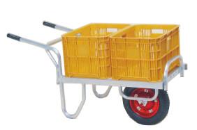 【個人宅配送不可】【離島配送不可】 ハラックス コン助 アルミ製 平形一輪車 CN-40D 20kgコンテナ2個用 防J【送料無料】【代引不可】