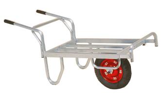 【離島配送不可】 ハラックス コン助 アルミ製 平形一輪車 CNB-45D ストッパー伸縮タイプ ブレーキ付 防J【代引不可】
