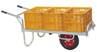 【個人宅配送不可】【離島配送不可】 ハラックス コン助 アルミ製 平形一輪車 CN-60D 20kgコンテナ3個用 防J【送料無料】【代引不可】
