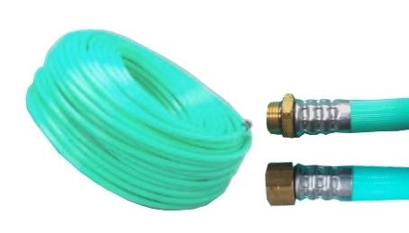 十川ゴム 動噴ホース グリーン軽量スプレーホース 5.0Mpa 10mm×50m金具付 防J【代引不可】
