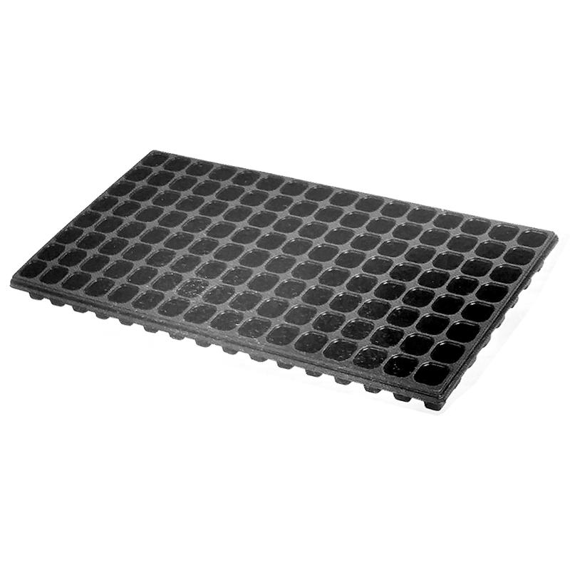 【100枚】 ユープラグトレイ 72穴 黒 35角×高43mm 6×12列 302×600mm タ種【代引不可】