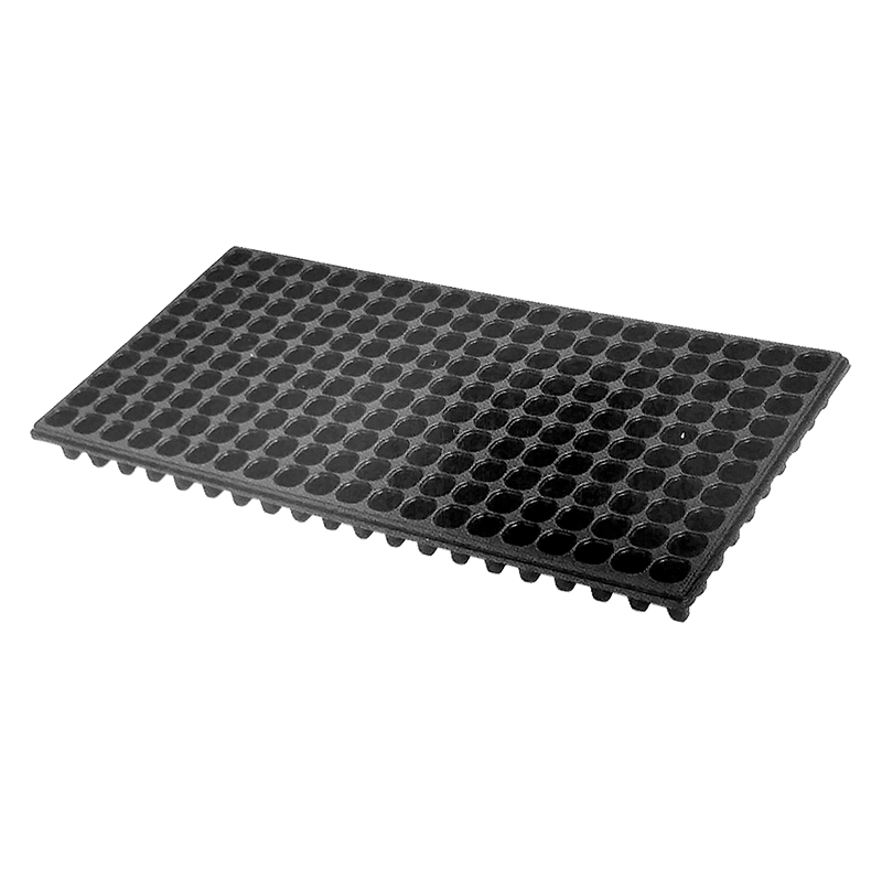 【500枚】 ユープラグトレイ 200穴 黒 26角×高43mm 10×20列 302×600mm タ種【代引不可】
