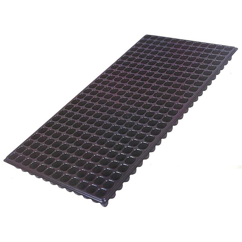 【500枚】 ユープラグトレイ 288穴 黒 20角×高35mm 12×24列 300×595mm タ種【代引不可】