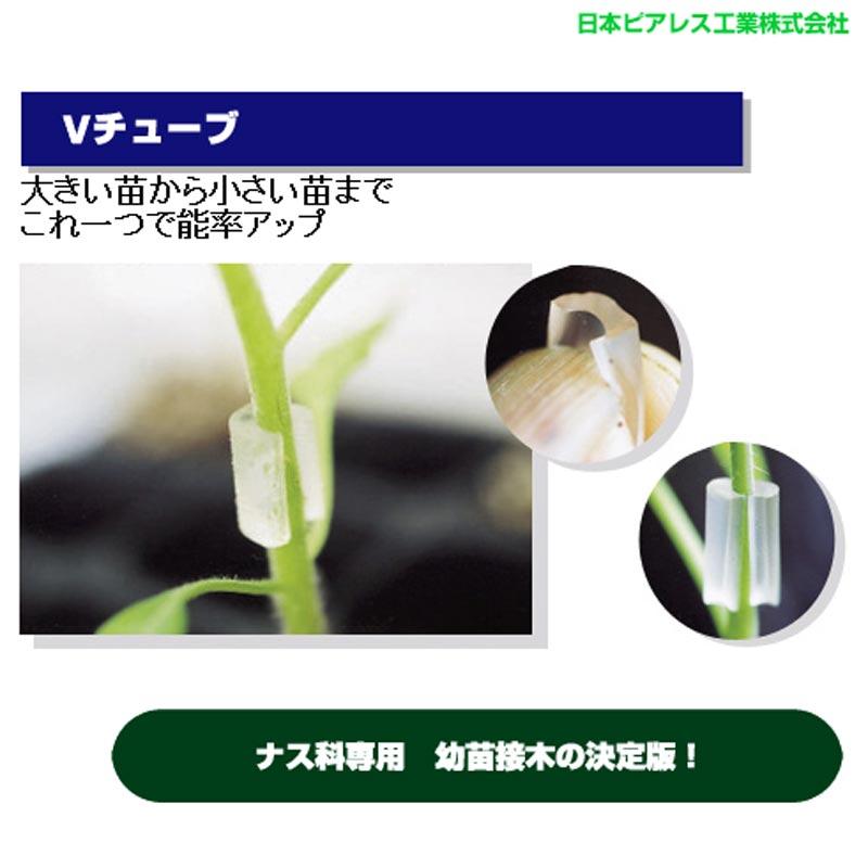 【北海道発送不可】【10000個】 Vチューブ65 大 白 内径1.7、2.1mm楕円 長さ12mm ナス科用 接木チューブ 透明 タ種【代引不可】