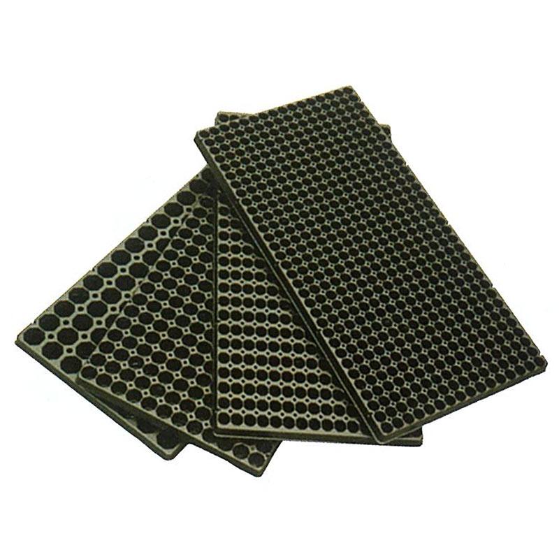 100枚 ランドマーク ヘキサトレイ 58穴 黒 38-41(六角)×高57mm プラグトレイ プラグトレー タ種 代引不可