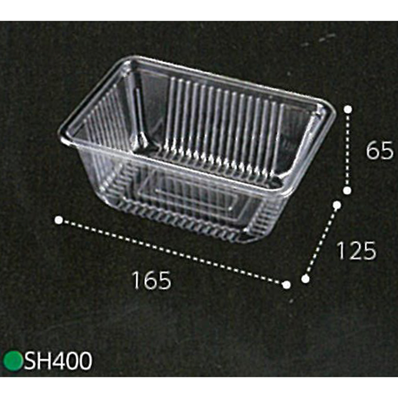 1500枚 SH400 透明 165×125×高65mm CP844004 OPS マイタケ 青果物容器 エフピコチューパ カ施 代引不可