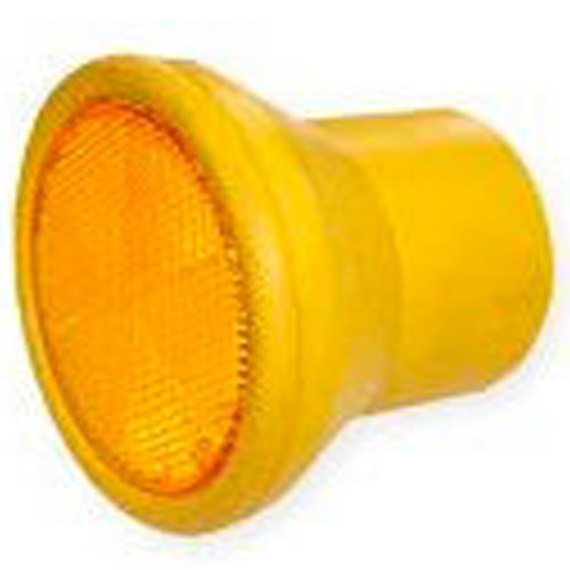 【50個】伊藤製作所 123 デリキャップ 黄色ゴム製(反射器付) 48.6 単管に アミD