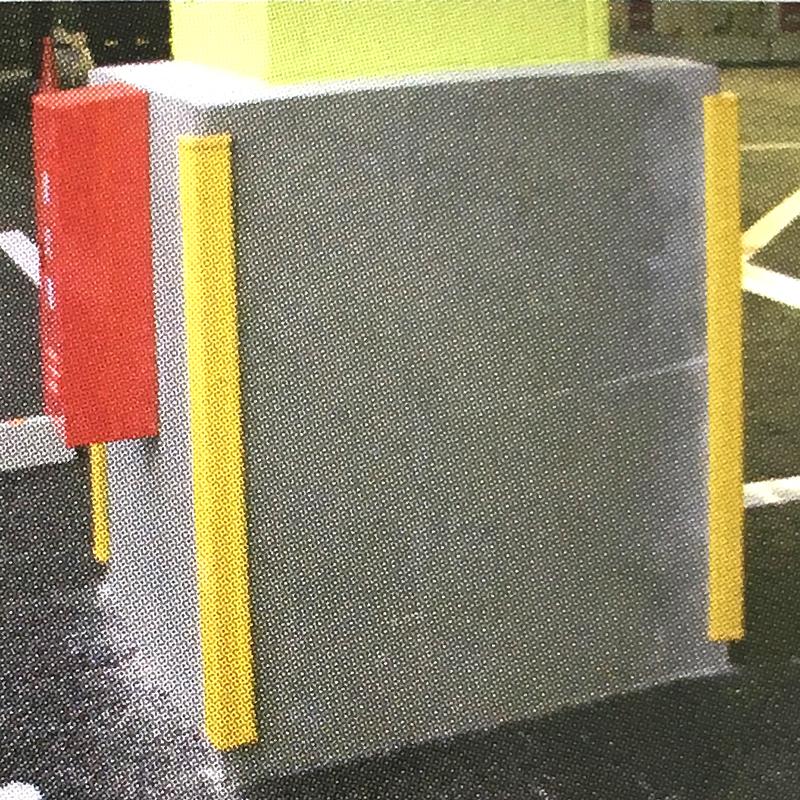 【4セット】 パーキングコーナー 1m 黄色 コーナーガード 養生 駐車場 現場 コT 【代引不可】