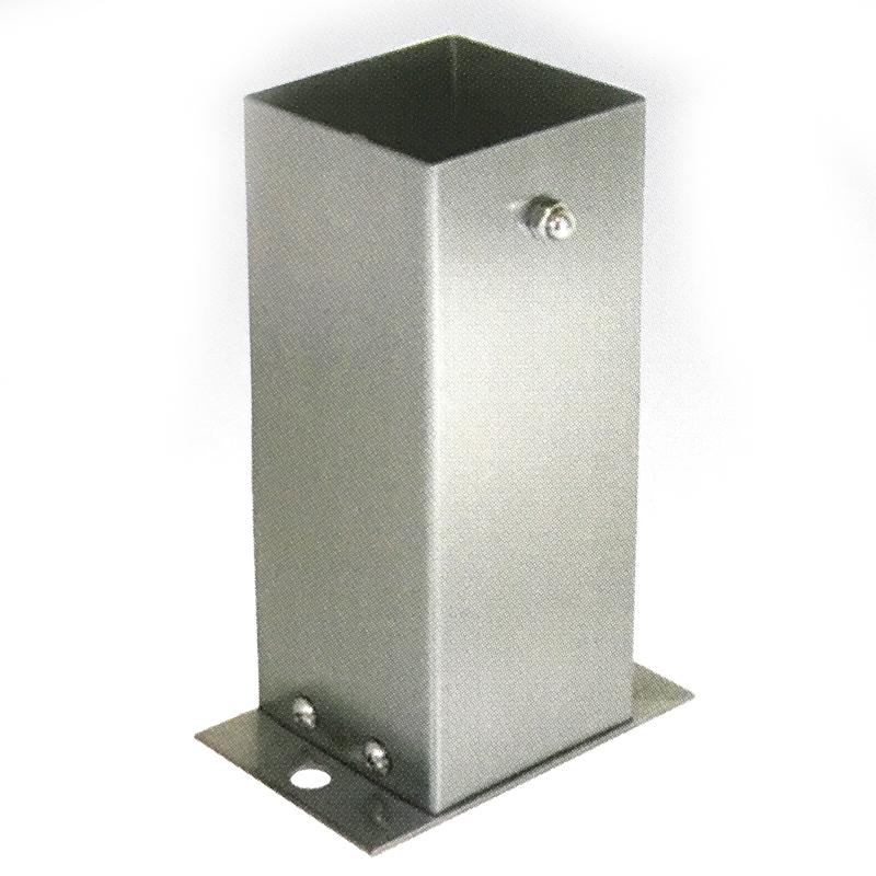 【6個セット】 装飾 柱脚 金物 100角 SB100 ストレート ステンレス製 西潟 アMD