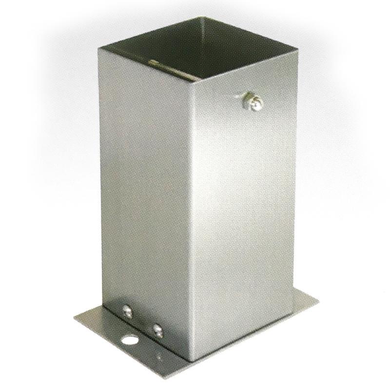 【6個セット】 装飾 柱脚 金物 120角 SB120 ストレート ステンレス製 西潟 アMD