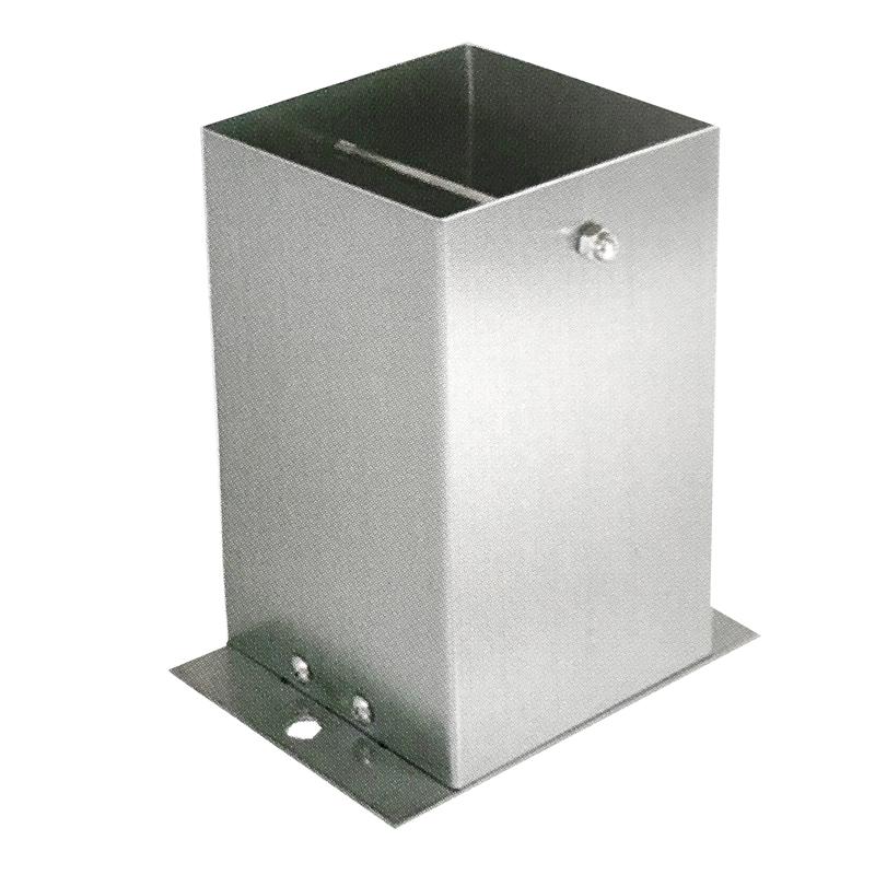 【6個セット】 装飾 柱脚 金物 150角 SB150 ストレート ステンレス製 西潟 アMD