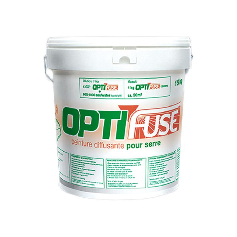 【1缶】 ビニールハウス に塗る 太陽光 拡散剤 オプティフューズ OPTI FUSE 15kg 塗布 カ施 【代引不可】