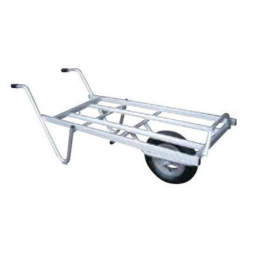 【離島配送不可】 【大型配送】アルミ 平型一輪車 ネコ - コンテナ3個載せ用 シN直送