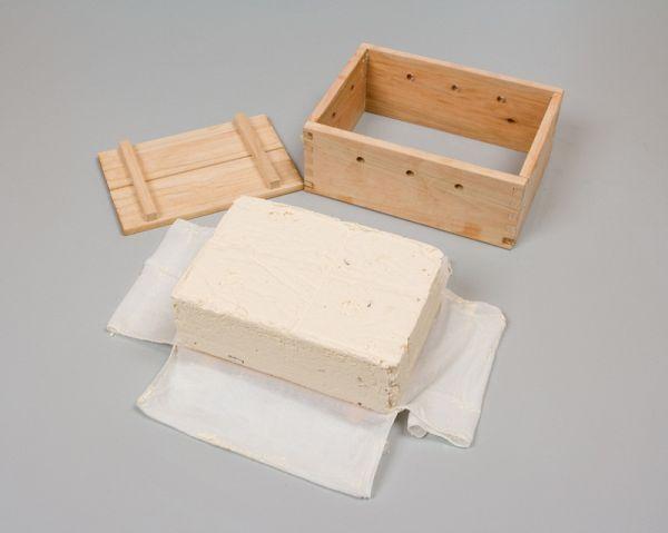 简单的豆腐的建设安排木制4丁用温度計付来Tofu Mold