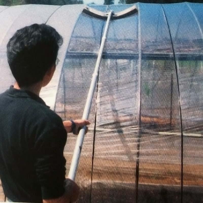ソフトクリヤー ビニールハウス 農ビ 農PO の 竿付き 洗浄ブラシ 槍木産業 うつぎ産業 カ施 代引不可