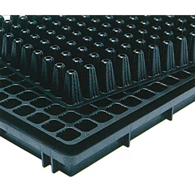 タキイ 根巻防止 セルトレイM型 ストロング 黒 128穴 8×16列 100枚入り 300×590mm プラグトレイ タ種D