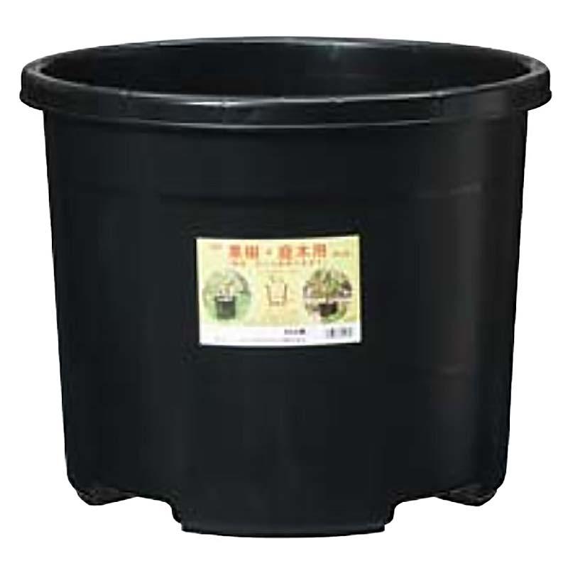 【個人宅配送不可】【30個入】 NPポット #45 ブラック 直径480×380Hmm 45L 果樹 庭木用 鉢 プランター DICプラスチック 日A【代引不可】