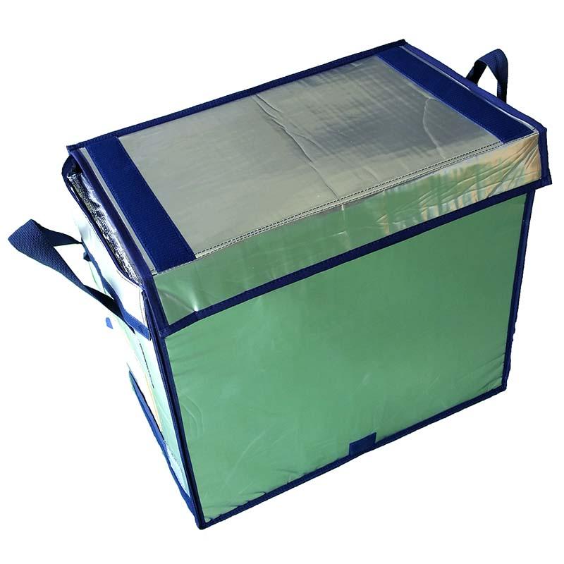 【2箱】 折り畳み式 軽トラ 用 極厚 長時間 保冷 ボックス KTB-RF-Z 容量75L 軽トラック クーラー バッグ サンユー印刷 D