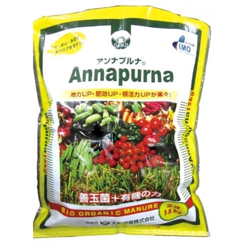 【4袋】 アンナプルナ 15kg ×4 微生物入り土壌改良材 土壌障害 連作障害 大興貿易 【代引不可】