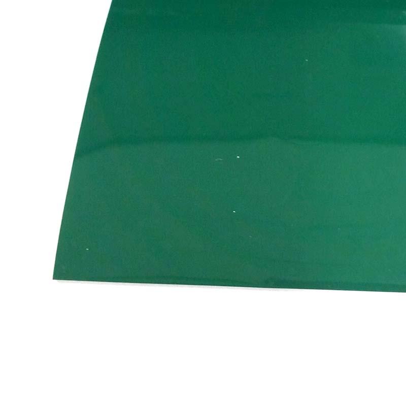 塩ビマット 平 艶 緑 915×20m ワニ印 日大工業 養生シート 日本製 難燃性 カS【代引不可】個人店入れ