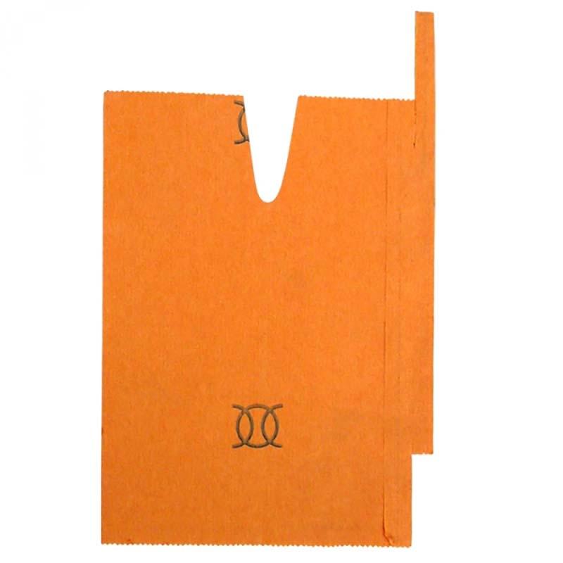 【5000枚】 果実袋 もも 桃用掛袋 #7 Vカット オレンジ 一重袋 376-707-18K 桃 モモ 一色本店 一S 【代引不可】
