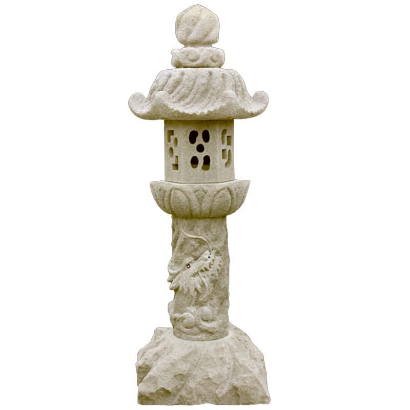 【北海道発送不可】 出雲 石灯籠 銀月形 (ギンゲツガタ) 高さ 7尺 213cm 灯篭 灯籠 【代引不可】