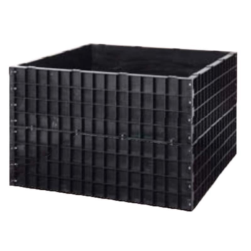 【北海道不可】堆肥枠 容量1100L A-22 124×124×高さ80cm サンポリ【代引不可】