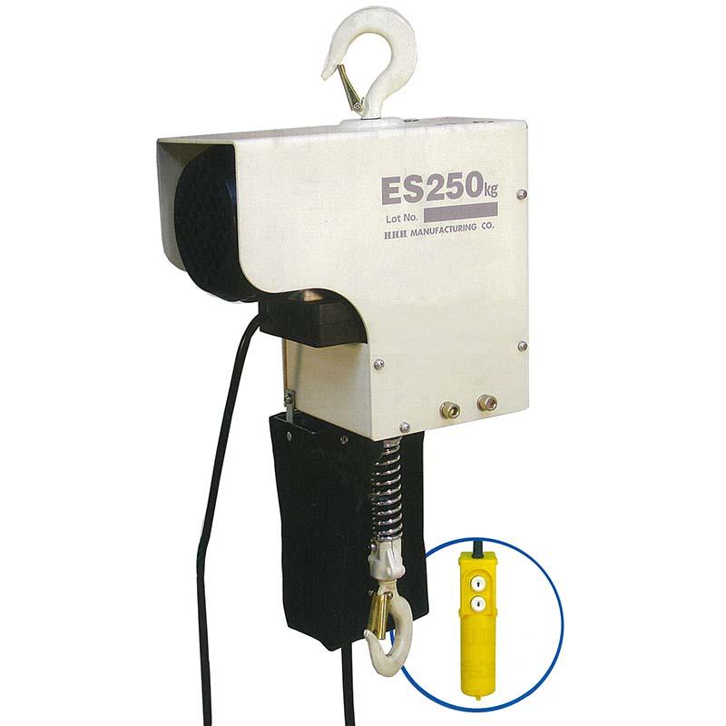 電気 チェーンブロック ES250kg×3m 250kg 揚程 3m 巻上速度4m/分 電源100V スリーエッチ HHH H